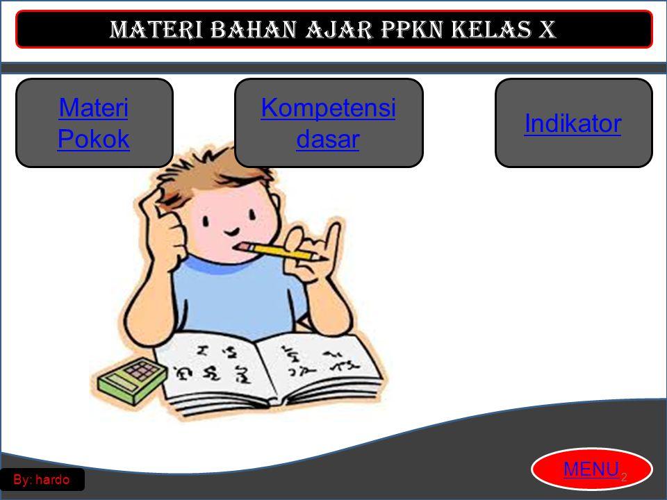 Materi Pokok Kompetensi dasar Indikator