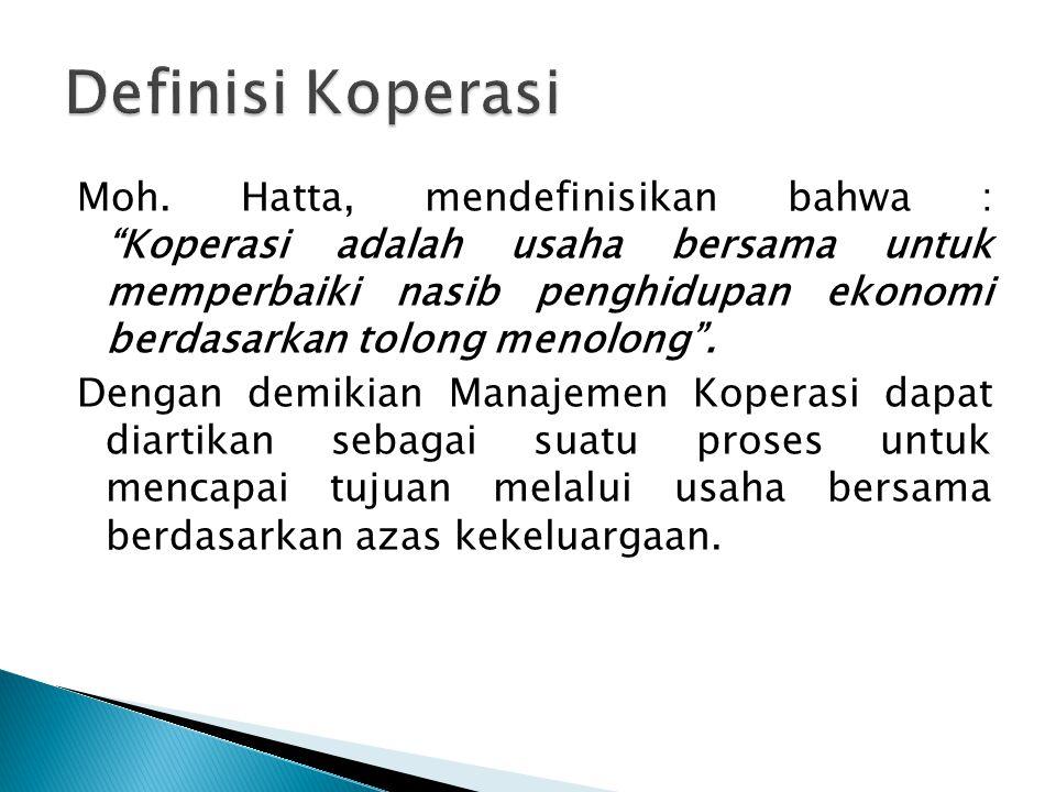 Definisi Koperasi