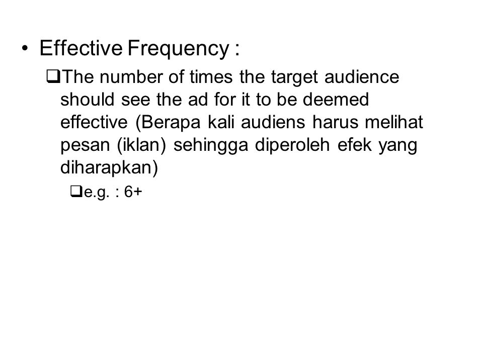 Effective Frequency :