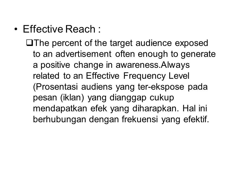 Effective Reach :