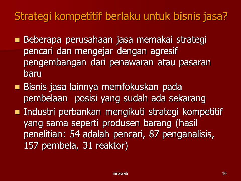 Strategi kompetitif berlaku untuk bisnis jasa