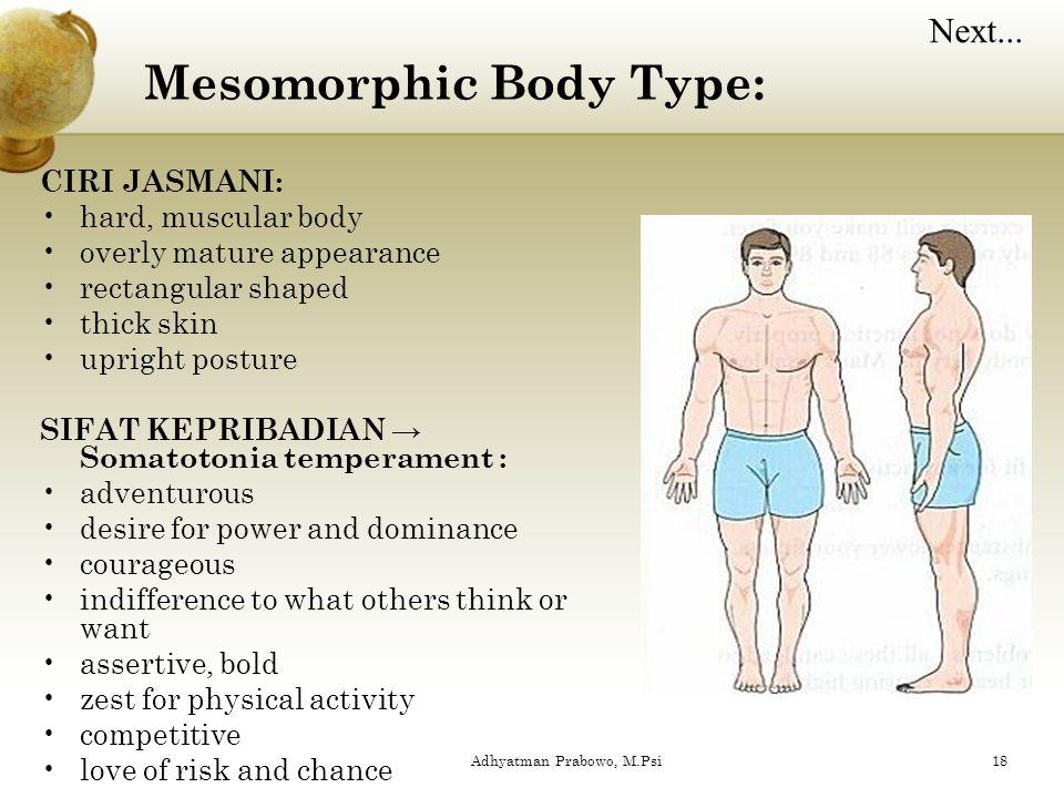 Mesomorphic Body Type: