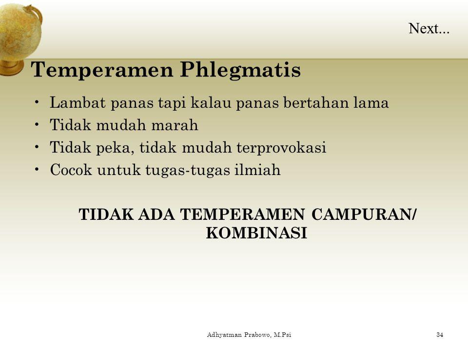 Temperamen Phlegmatis
