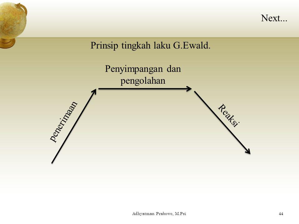 Prinsip tingkah laku G.Ewald.