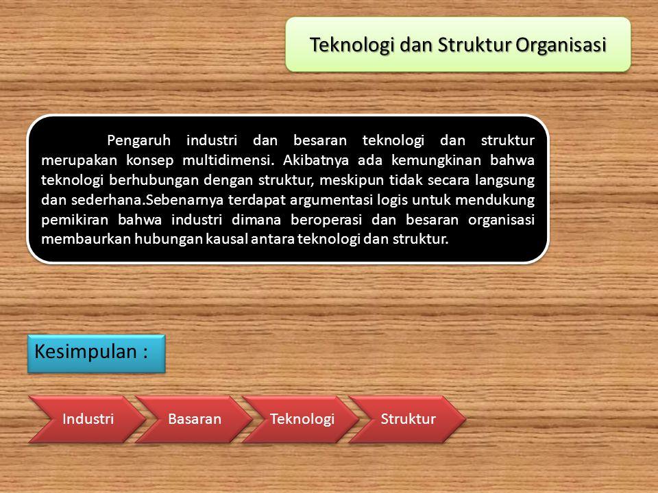 Teknologi dan Struktur Organisasi