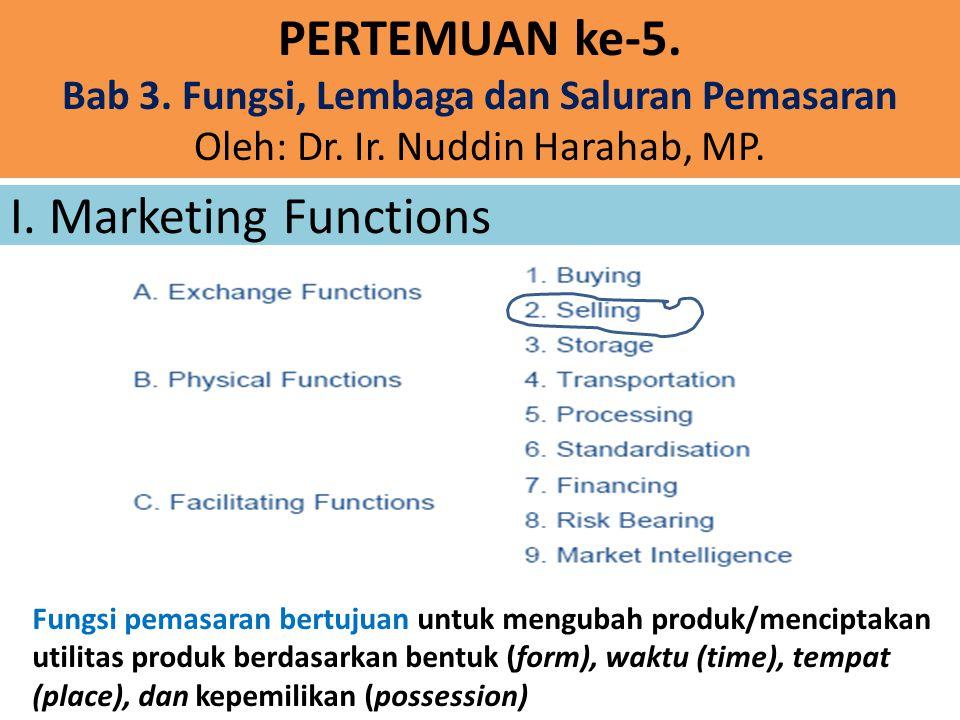 Bab 3. Fungsi, Lembaga dan Saluran Pemasaran