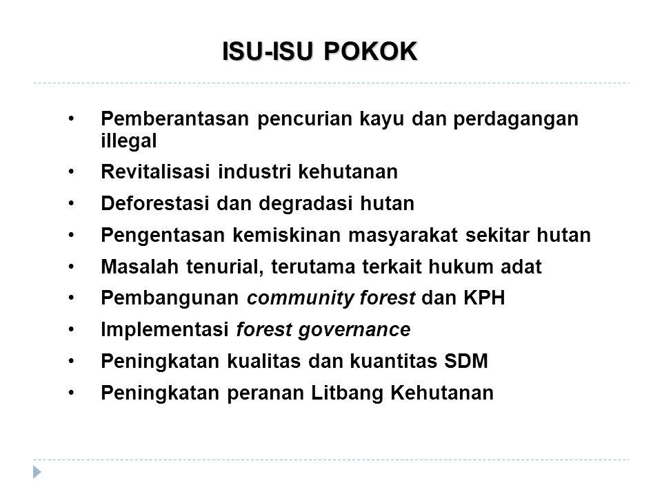 ISU-ISU POKOK Pemberantasan pencurian kayu dan perdagangan illegal