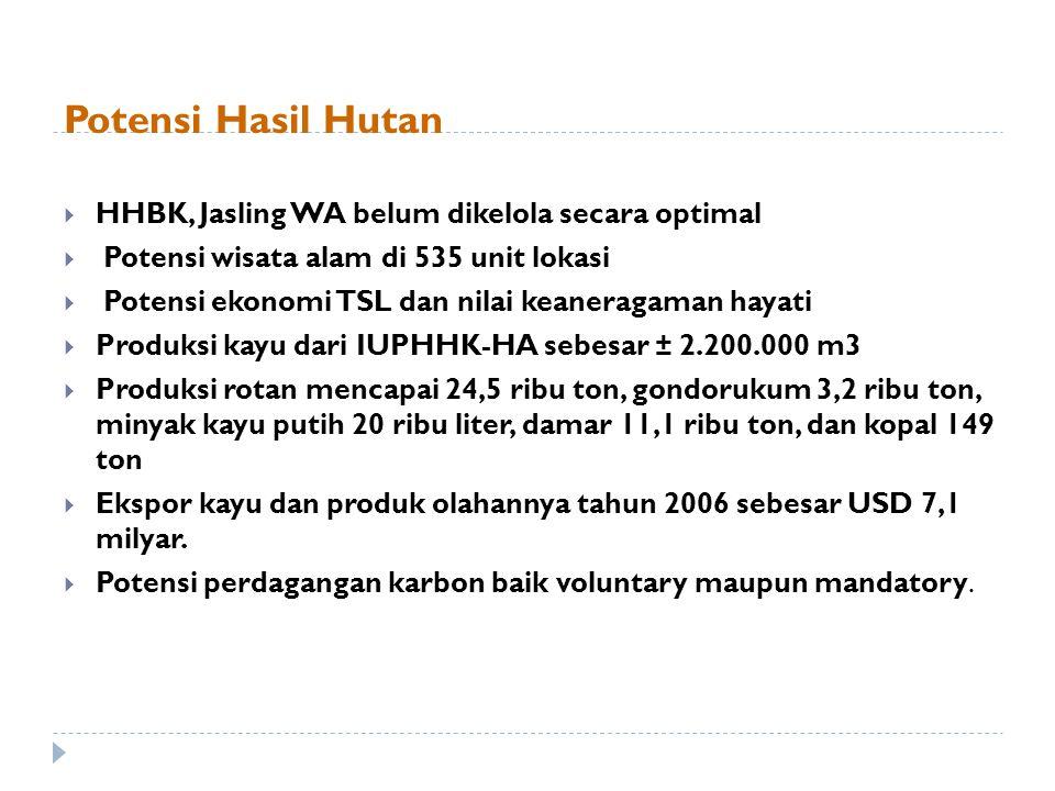 Potensi Hasil Hutan HHBK, Jasling WA belum dikelola secara optimal