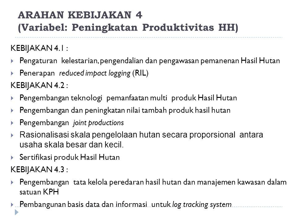 ARAHAN KEBIJAKAN 4 (Variabel: Peningkatan Produktivitas HH)