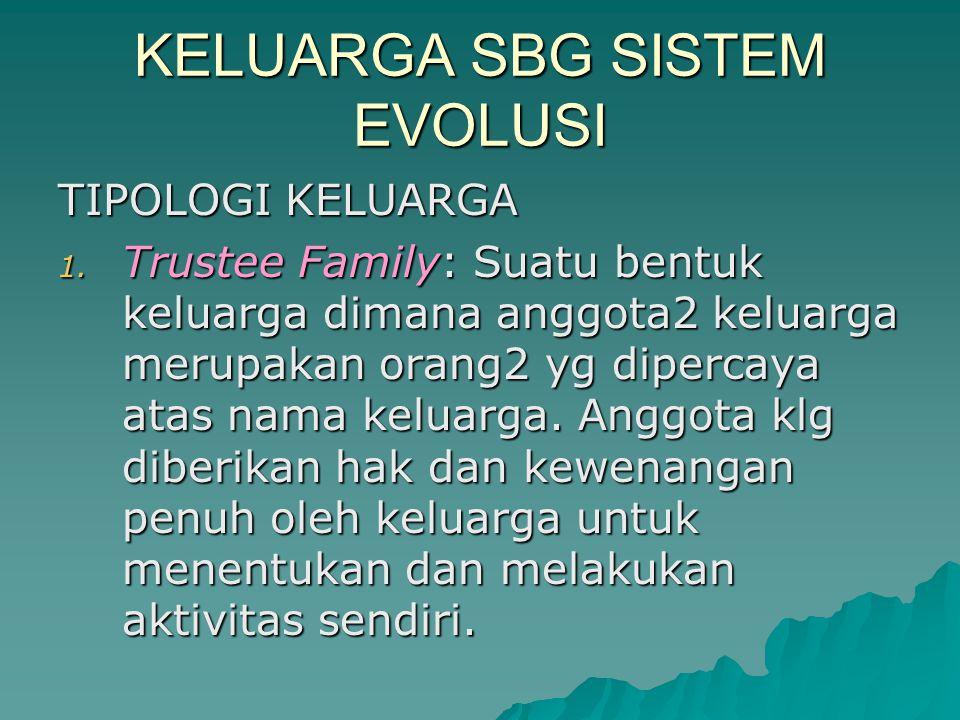 KELUARGA SBG SISTEM EVOLUSI