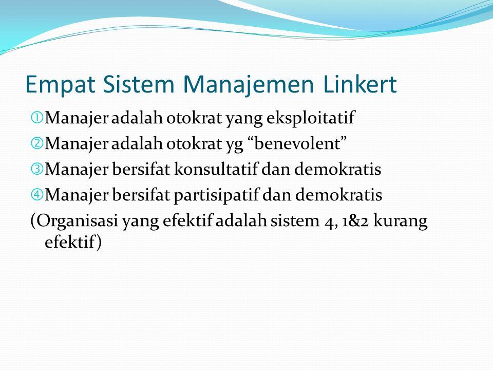 Empat Sistem Manajemen Linkert