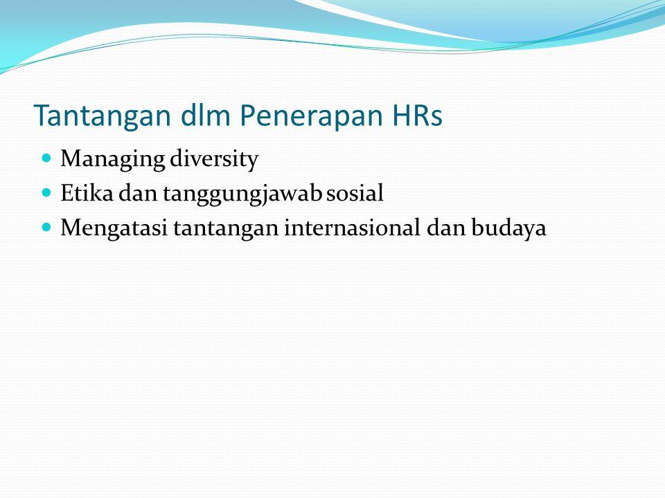 Tantangan dlm Penerapan HRs