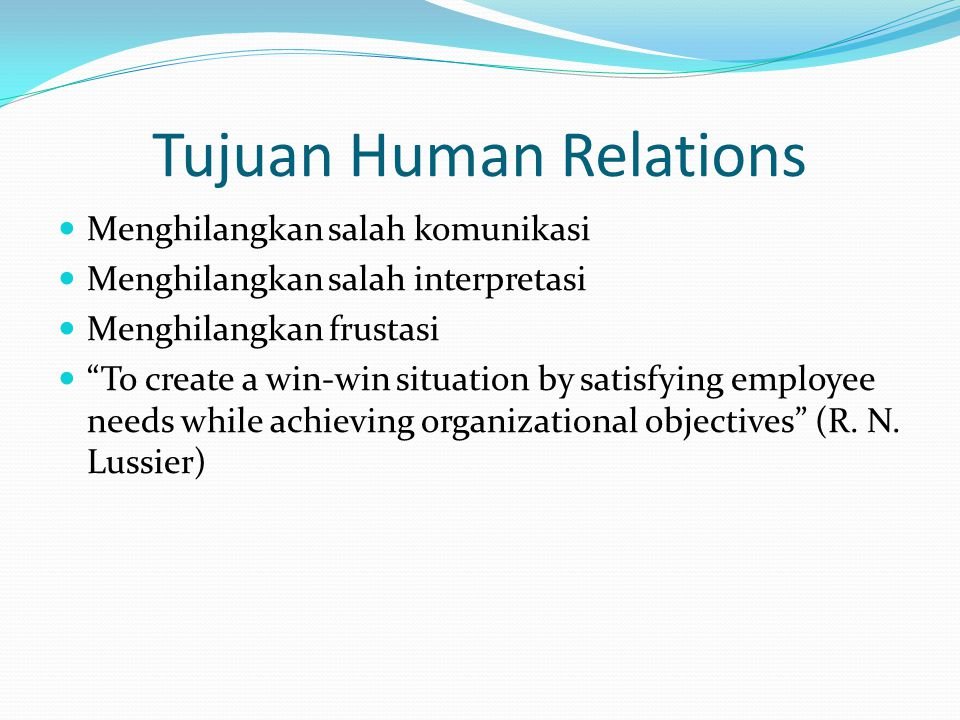Tujuan Human Relations