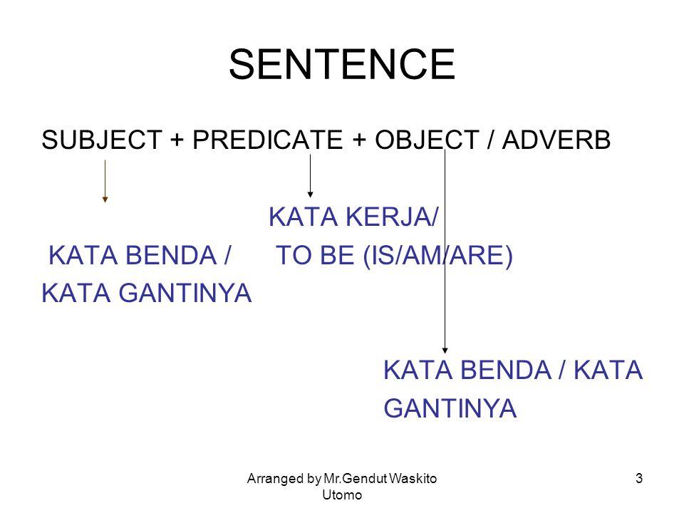 Arranged by Mr.Gendut Waskito Utomo