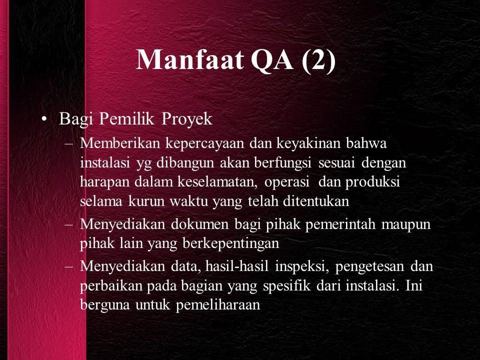 Manfaat QA (2) Bagi Pemilik Proyek