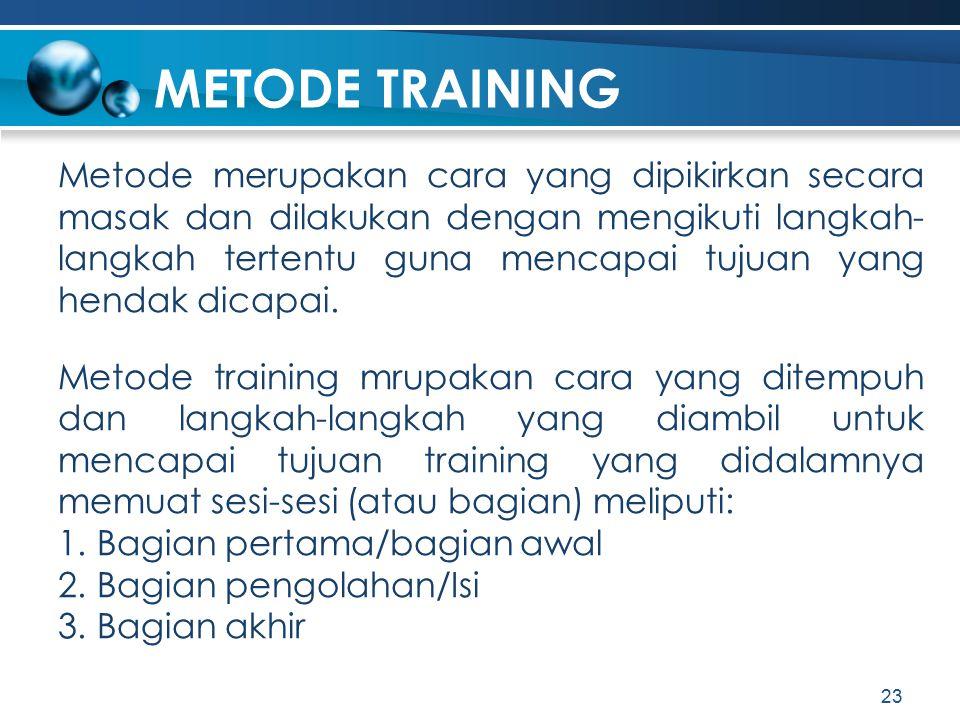 METODE TRAINING