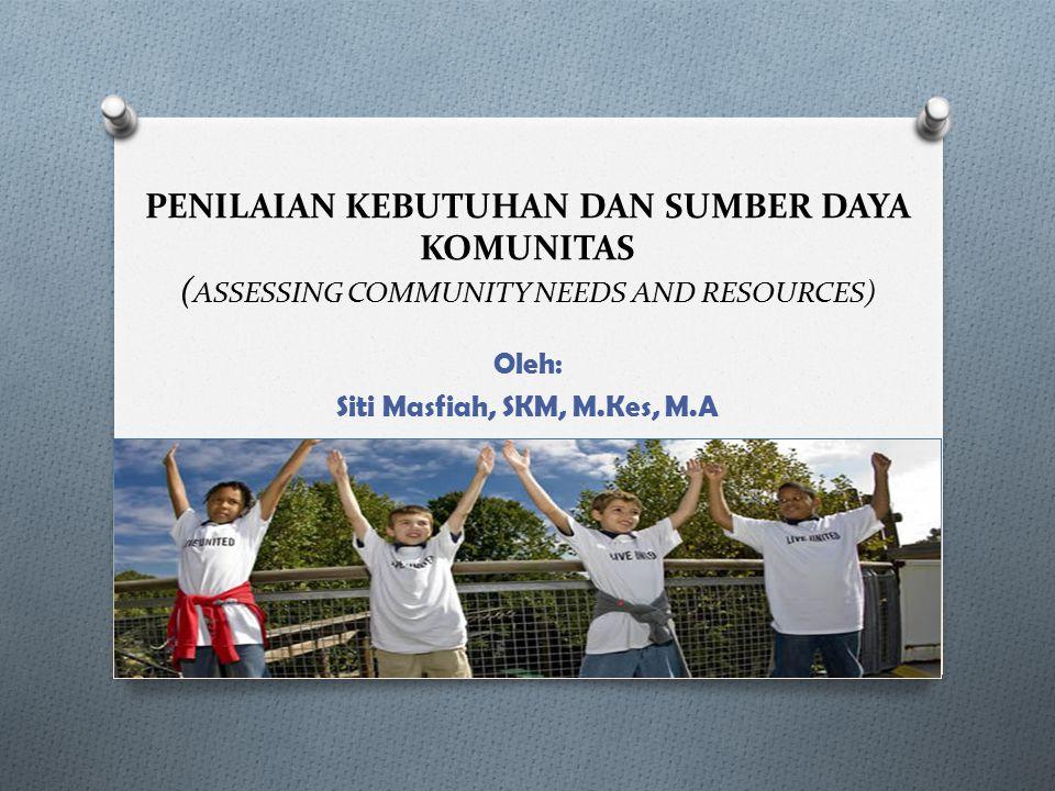 Oleh: Siti Masfiah, SKM, M.Kes, M.A