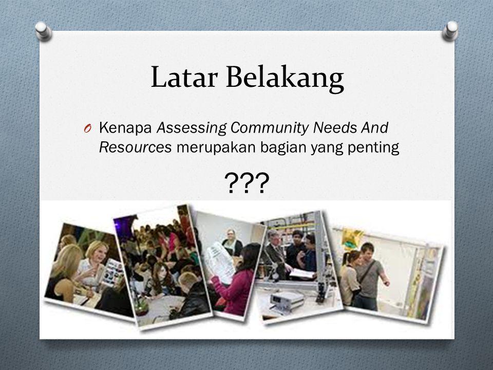 Latar Belakang Kenapa Assessing Community Needs And Resources merupakan bagian yang penting