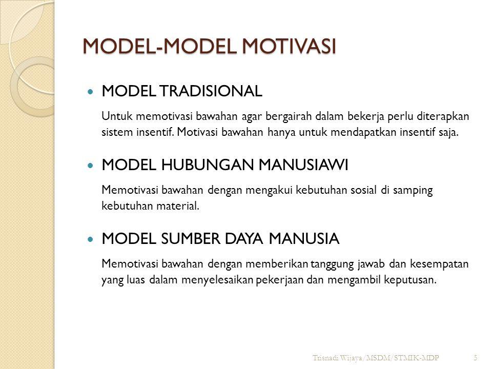MODEL-MODEL MOTIVASI MODEL TRADISIONAL