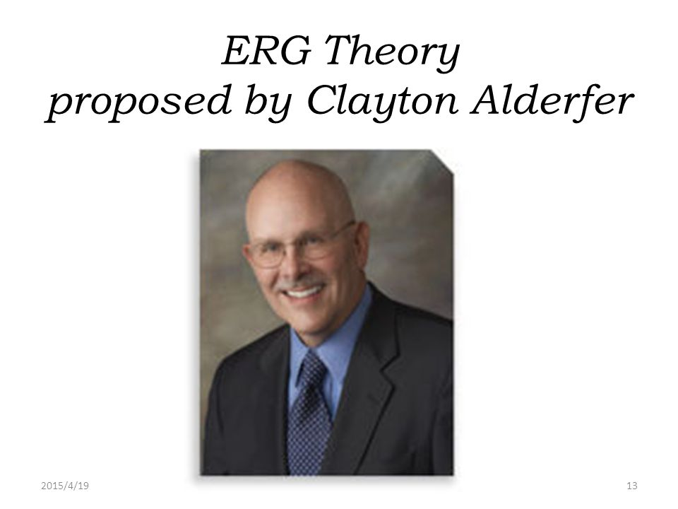 ERG Theory proposed by Clayton Alderfer