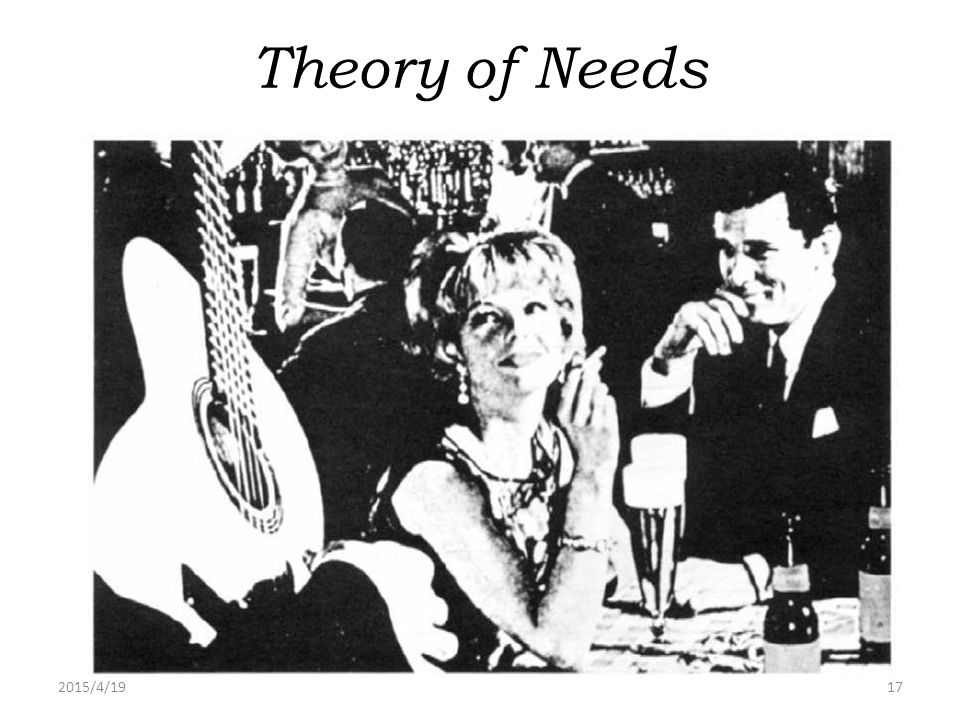 Theory of Needs 2017/4/13