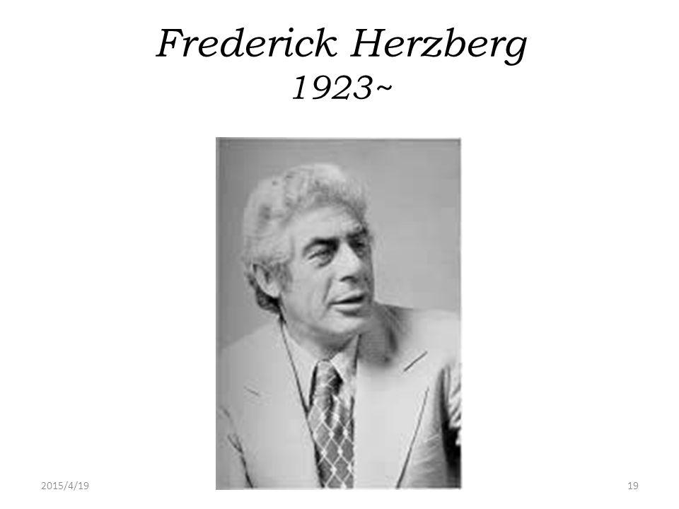 Frederick Herzberg 1923~ 2017/4/13