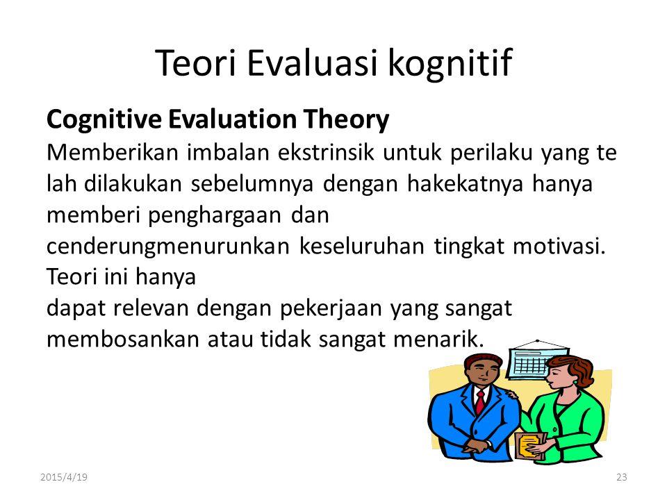Teori Evaluasi kognitif