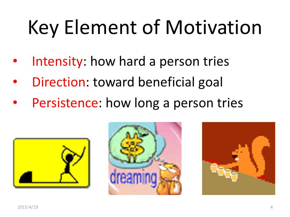 Key Element of Motivation