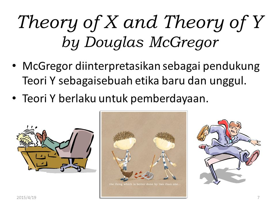 Theory of X and Theory of Y by Douglas McGregor