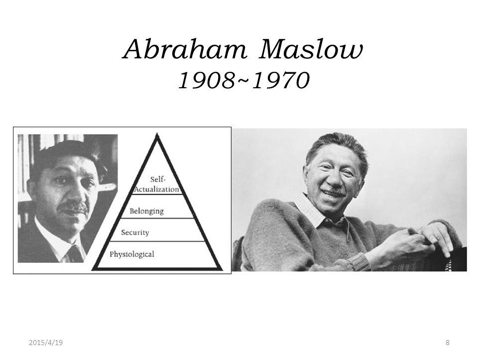 Abraham Maslow 1908~1970 2017/4/13