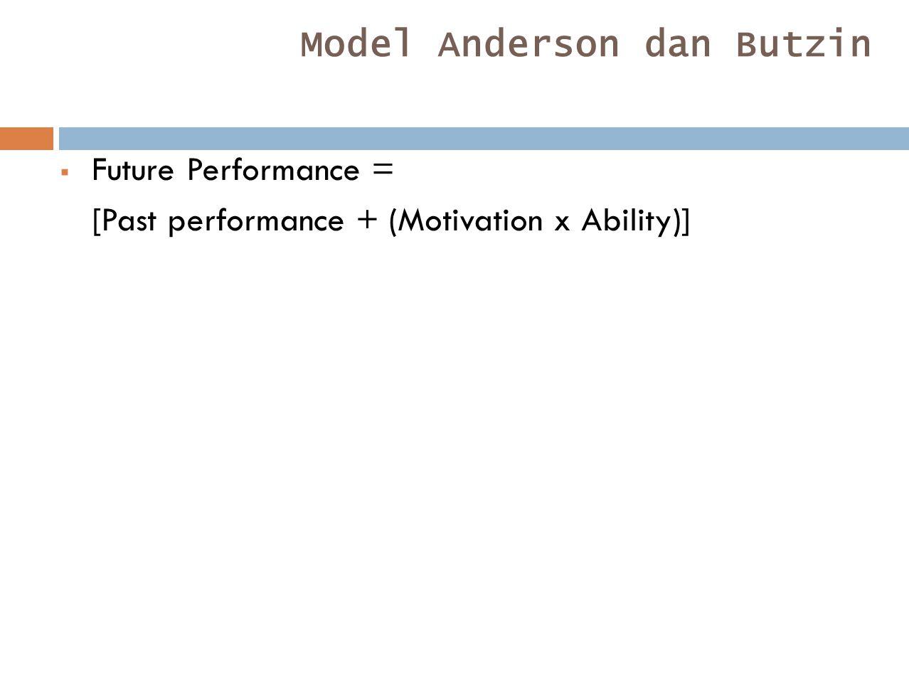 Model Anderson dan Butzin