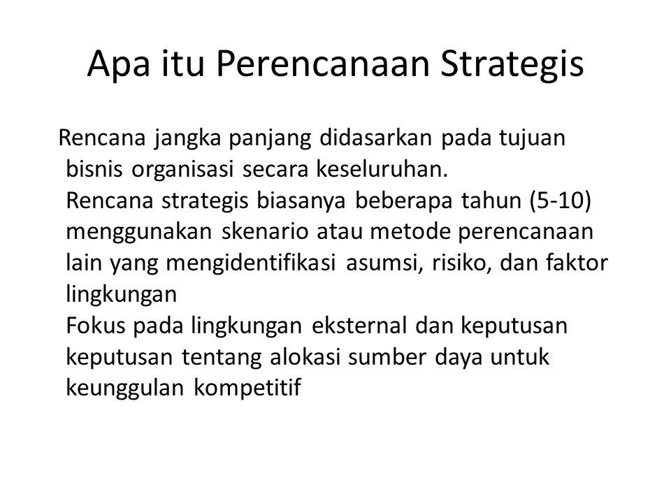 Apa itu Perencanaan Strategis