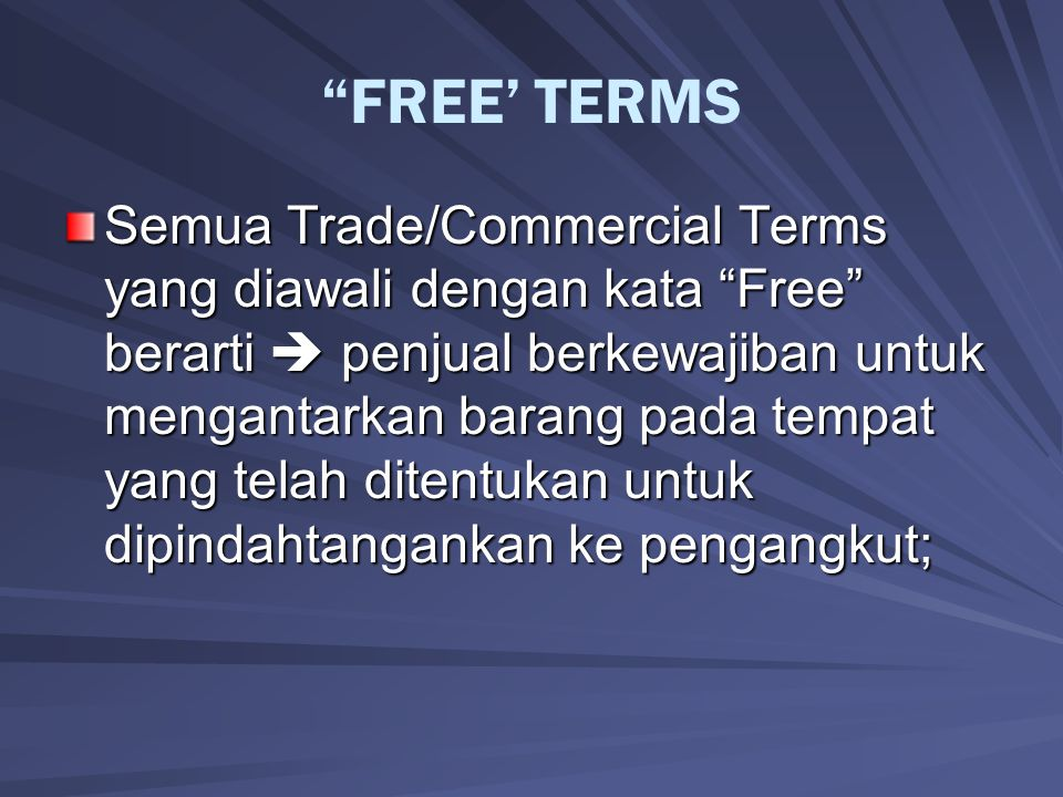 FREE' TERMS