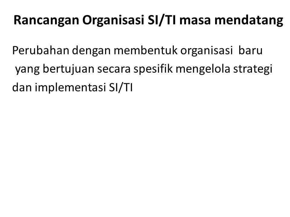 Rancangan Organisasi SI/TI masa mendatang