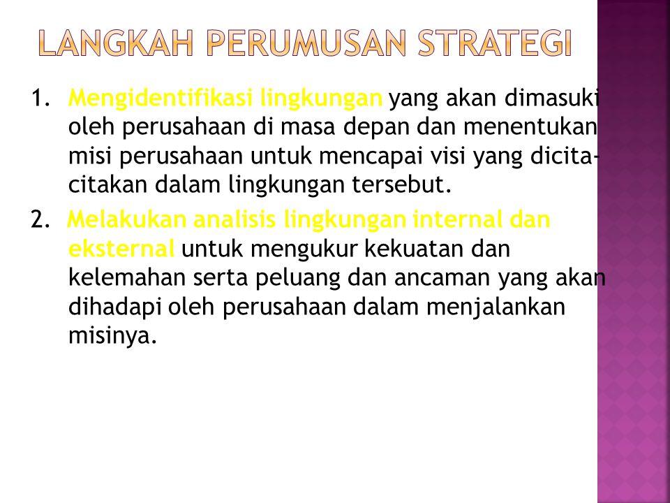 Langkah perumusan strategi