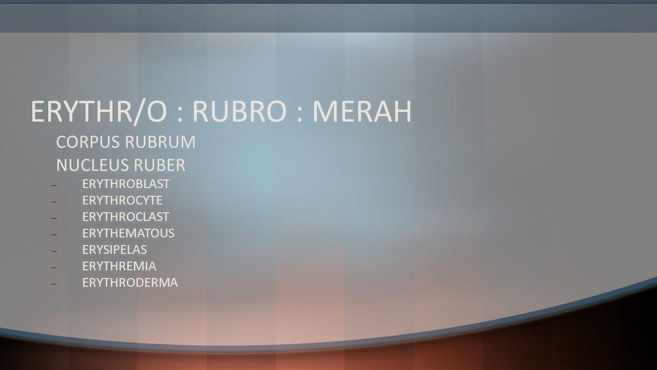 ERYTHR/O : RUBRO : MERAH
