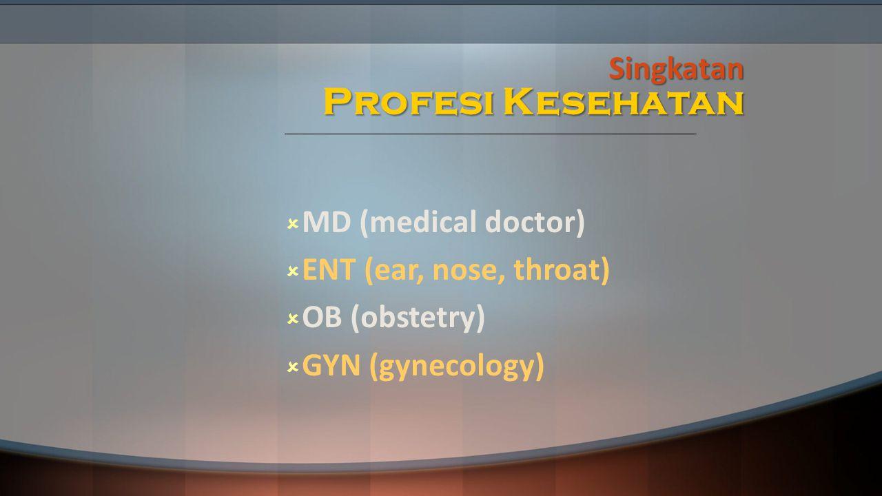 Singkatan Profesi Kesehatan