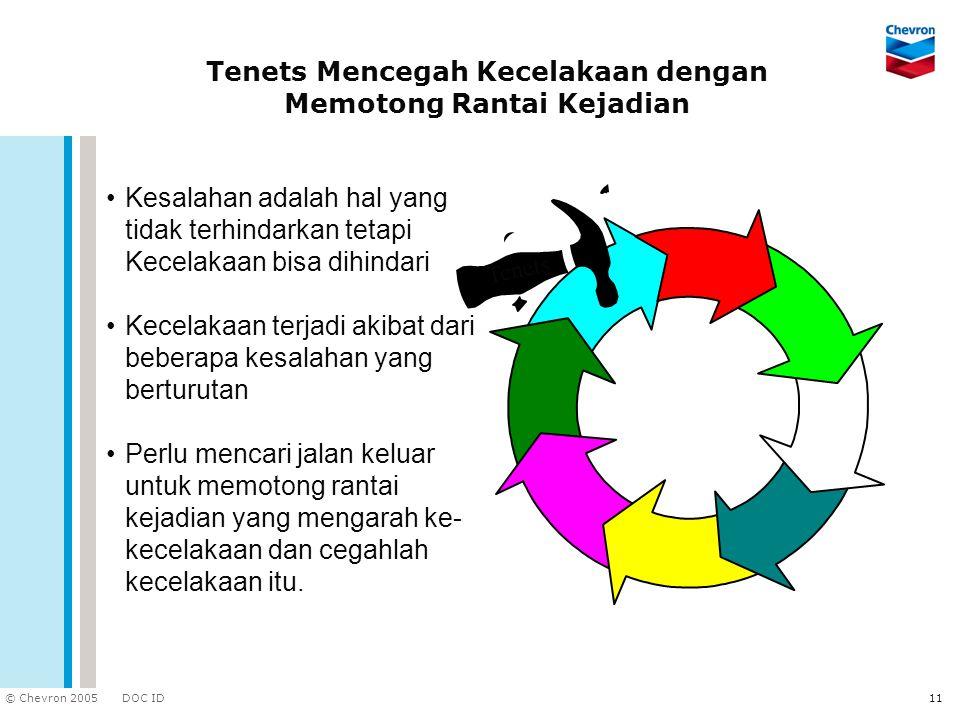 Tenets Mencegah Kecelakaan dengan Memotong Rantai Kejadian
