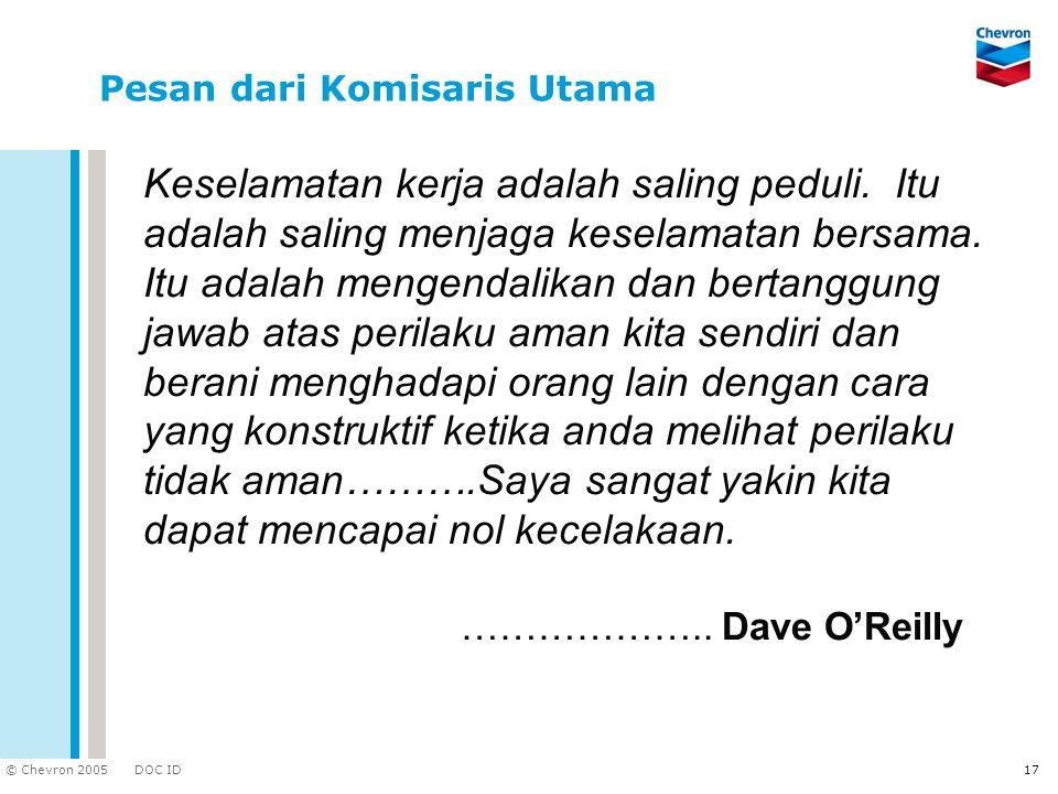 Pesan dari Komisaris Utama