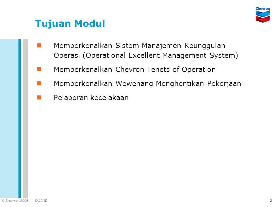 Tujuan Modul Memperkenalkan Sistem Manajemen Keunggulan Operasi (Operational Excellent Management System)