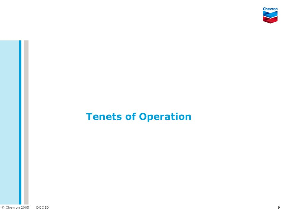 Tenets of Operation