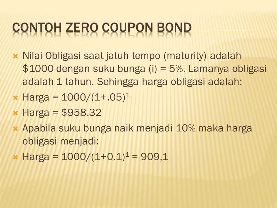 Contoh Zero Coupon Bond