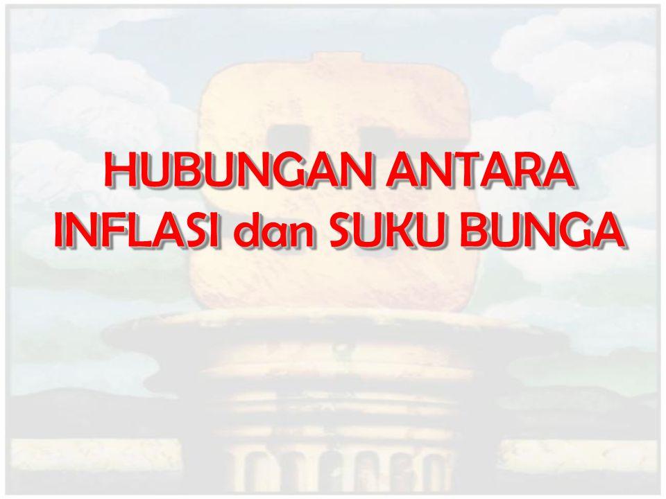 HUBUNGAN ANTARA INFLASI dan SUKU BUNGA