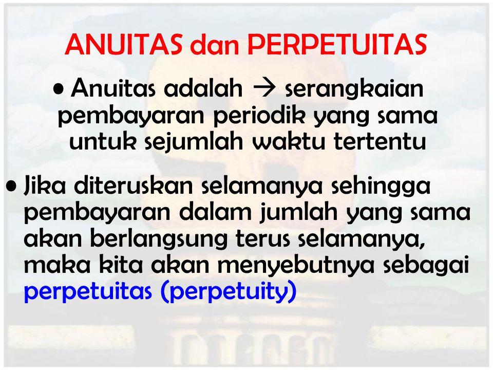 ANUITAS dan PERPETUITAS
