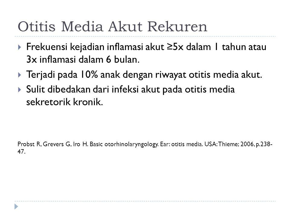 Otitis Media Akut Rekuren
