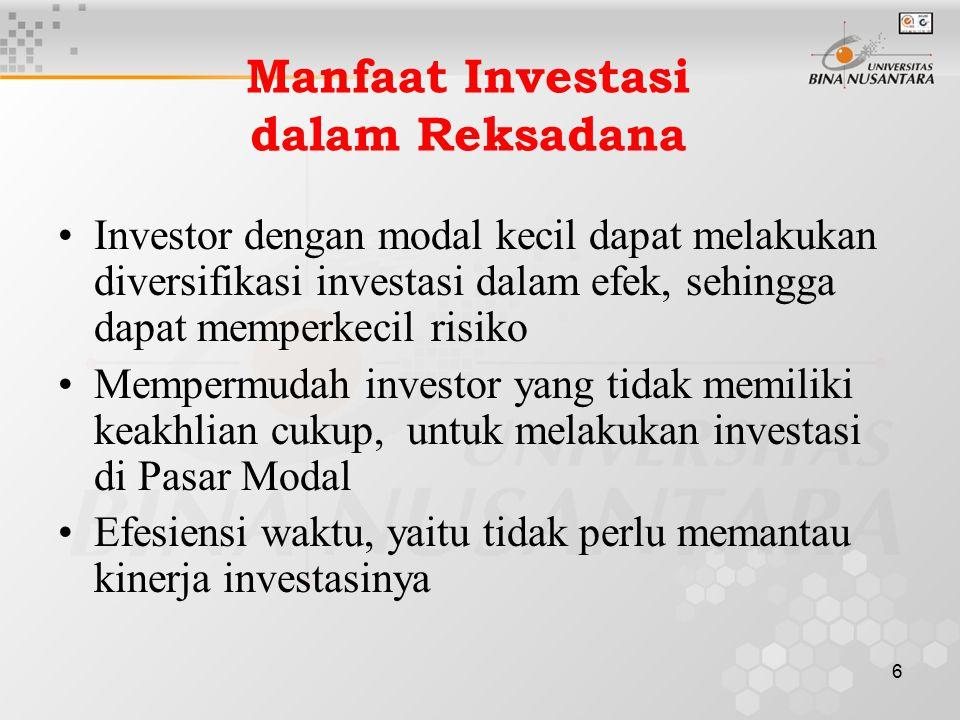 Manfaat Investasi dalam Reksadana