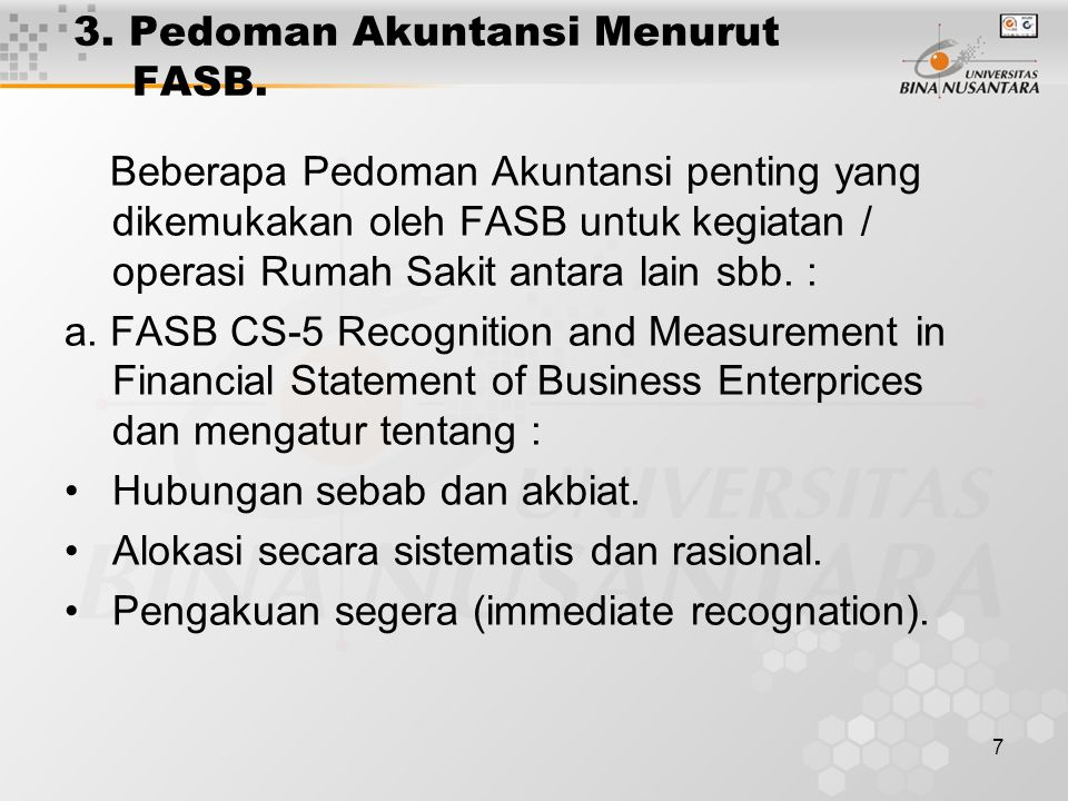 3. Pedoman Akuntansi Menurut FASB.
