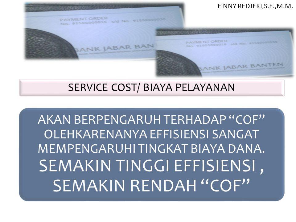 SERVICE COST/ BIAYA PELAYANAN
