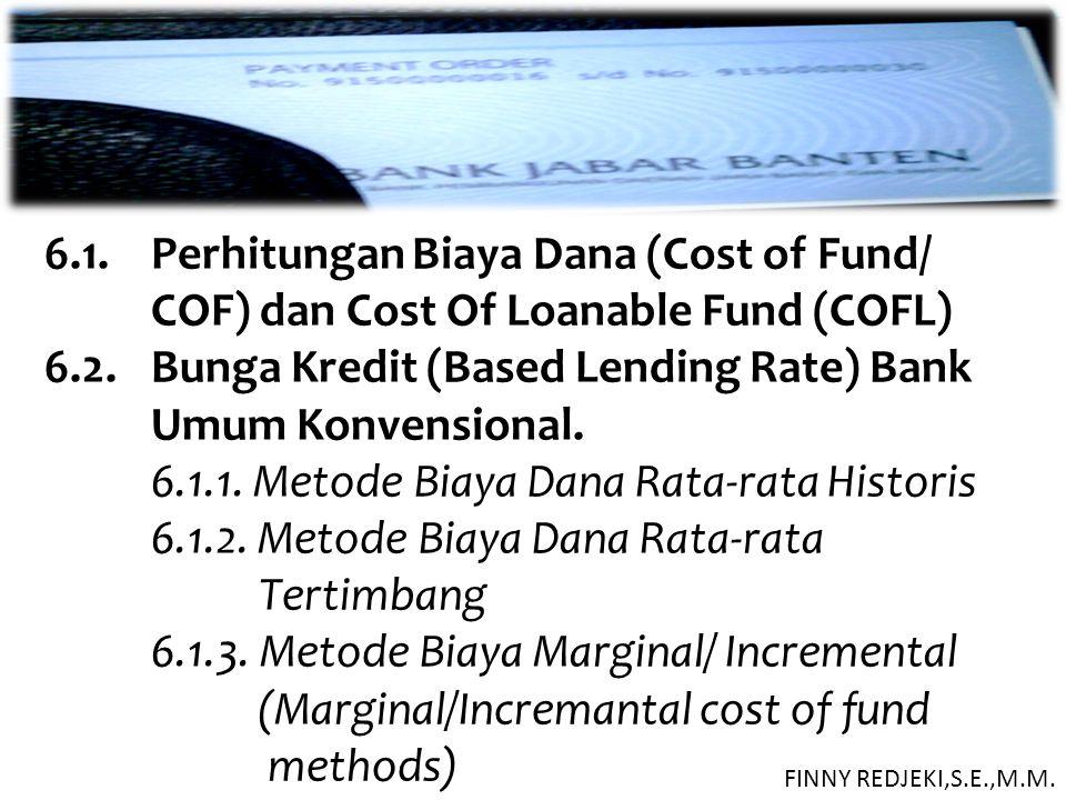 6. 1. Perhitungan Biaya Dana (Cost of Fund/