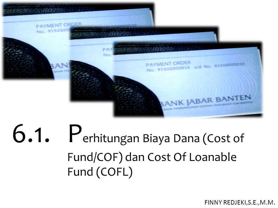 6. 1. Perhitungan Biaya Dana (Cost of. Fund/COF) dan Cost Of Loanable